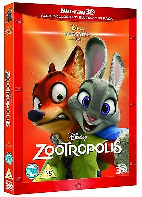 Zootopia (3D + 2D Blu-ray, 2 Discs, Disney, Region Free) *NEW/SEALED*