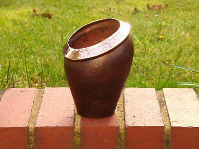 RARE EARLY 19th century ANTIQUE COPPER KITCHEN SALT POT