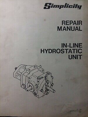 Simplicity 9020 Hydrostatic Transmission Tractor Repair Service & Parts Manual