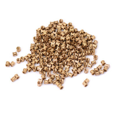 200Pcs M3*4 Copper Nut Inserts Embedded Parts Copper Knurl FE