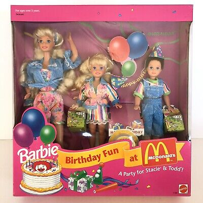Barbie Birthday Fun at McDonald's Gift Set 1993 Mattel A Party For Stacie & Todd