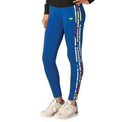 39e19aa2574d61 Adidas Originals Women's Super Logo Rita Ora Leggings Blue Gym/Fitness