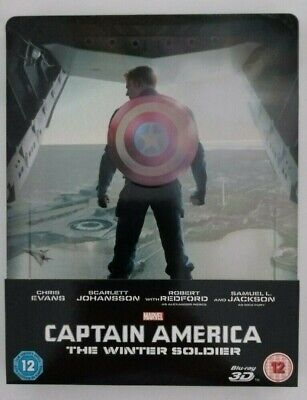 Captain America The Winter Soldier - 3D & 2D Bluray Steelbook - USED