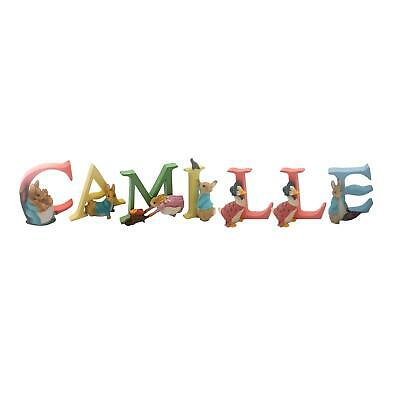 Official Licensed Beatrix Potter Peter Rabbit Name Camille Alphabet Letters
