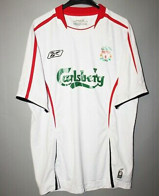 Liverpool England 2003/2004/2005 Away Football Shirt Jersey Reebok Size L
