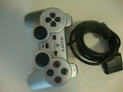 Official Sony PlayStation Dual Shock Analog Silver Controller SCPH-10010