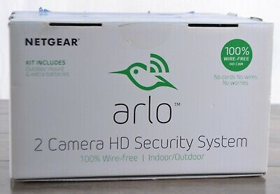 Netgear Arlo VMS3230C 2-pack HD Wireless Home Security Cameras 25ft Night Vision