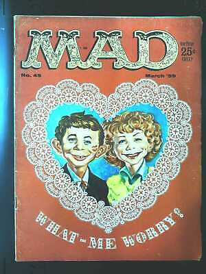 Mad (1952 series) #45 in Very Good + condition. E.C. comics [*uy]