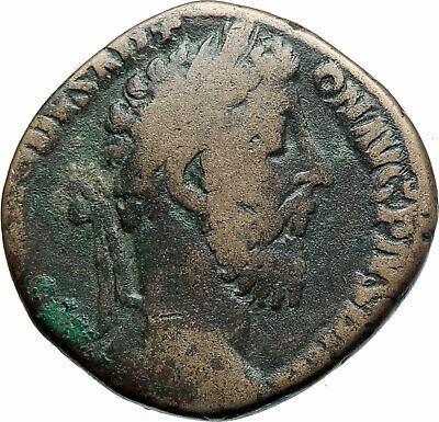 COMMODUS 184AD Sestertius Big Rome Authentic Ancient Roman Coin VICTORY i78121