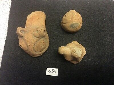 (GDD) Lot of 3 Pre-Columbian Terracotta Figures