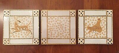 Vintage SEMIGRES Set Of 3 Terra-cotta Tiles.  MADE IN ITALY 🇮🇹