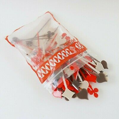Vintage Cocktail Picks Playing Card Suits Hearts Spades Diamonds Clubs 100 Ct