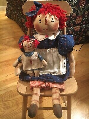 Primitive Annie Doll with Her Baby