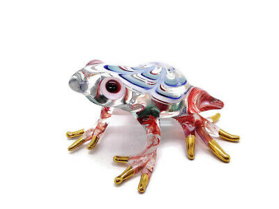 Frog Blown Glass Hand Blowing Art Figurine Toad Reptile Collectible Decor Gift 3