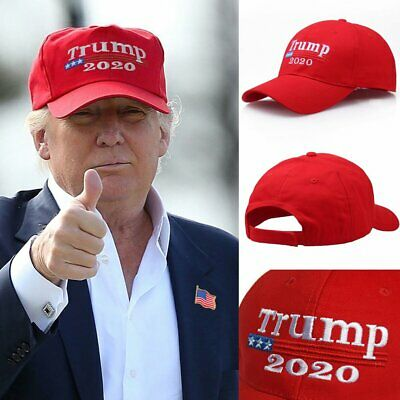 TRUMP 2020 Hat MAGA Election Keep America Great Donald Trump Embroidered Red Cap