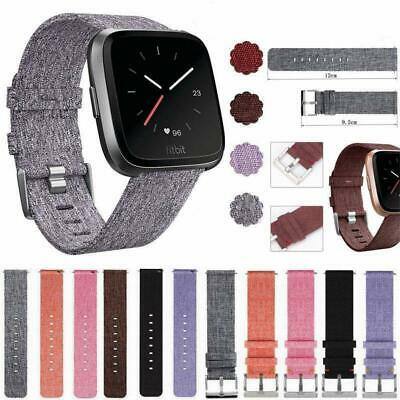 Woven Fabric Wrist Band Watch Bracelet Strap Accessories For Fitbit Versa