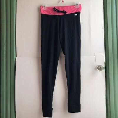 e35162362dcbf PINK VICTORIA'S SECRET VS Black Pink Skinny Yoga Pants Leggings XS Extra  Small