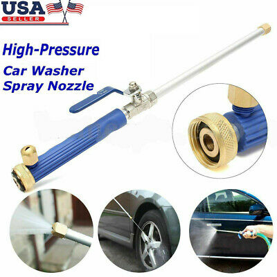 High Pressure Power Washer Water Spray Gun Nozzle Hose Hydro Jet Wand Tools USA