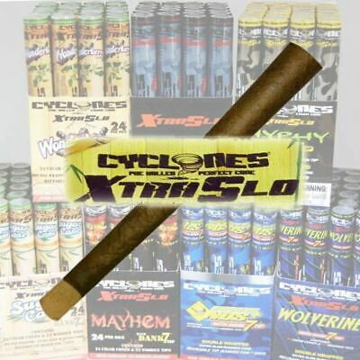 Cyclone Xtra Slo Cigar Wraps with Dank 7 Wooden Tip   2 PACK - Assorted Flavour