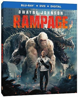 RAMPAGE  (Blu-ray/DVD, 2018, 2-Disc Set, Digital HD Copy)