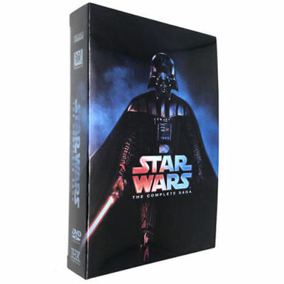 Star Wars: Complete Saga 1-6 Movies 13-Disc Box Set DVD Collection
