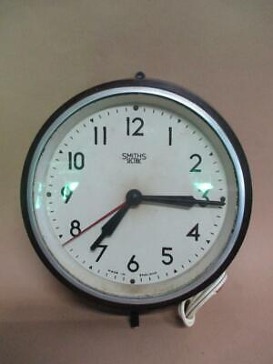 Wall clock, Smiths Sectric, parts or restoration, vintage, bakelite