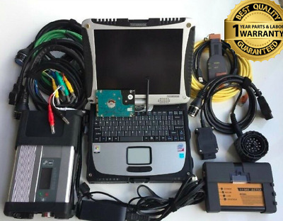 NEWEST 2in1 diagnostic-tool BMW ICOM A2+B+C + sd connect mb star c5 CF19 Laptop
