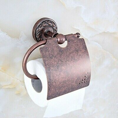 Antique Copper Wall Mounted Bathroom Toilet Paper Towel Roll Tissue Holder ba158