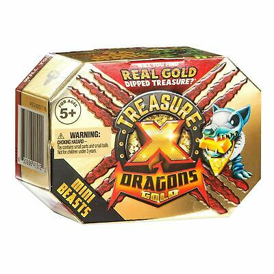 Treasure X Dragons Gold Mini Beasts Playset Series 2 Beast & Treasure Toy NEW