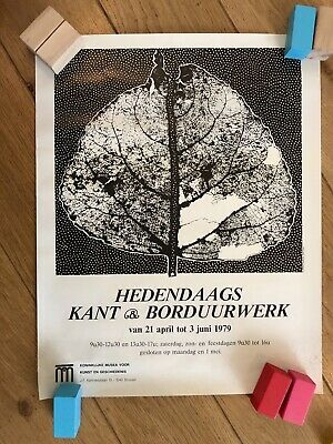 """AFFICHE """"HEDENDAAGS"""" BRUSSEL 1979 (52 x 41 CM)"""