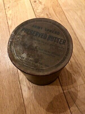 "Boite Cylindrique En Metal ""Army Spread - Preserved Butter"""