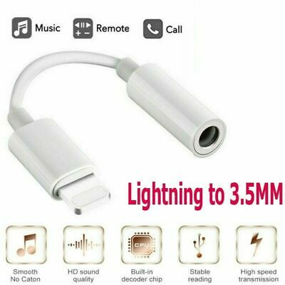 For iPhone X 7 8 XR  Lighting to 3.5mm Jack Audio AUX Adapter Headphone Jack Lot