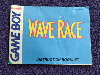 Wave Race - Nintendo Gameboy - Instructions Only - **No Game** - Free P&P