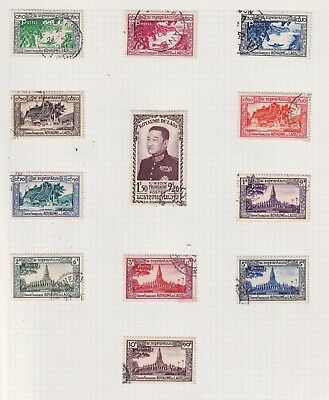 LAOS 1951-97 Fine used collection in 3 - 7361