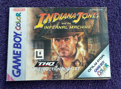 Indiana Jones - Nintendo Gameboy Color - Instructions Only - **No Game**