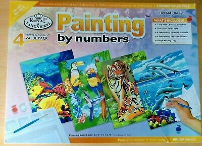 Painting By Numbers 4 Design Value Pack Junior Small Scuffed Box