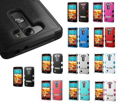 Hybrid Case +Silicone Hybrid +Stand Protector TUFF Cover for LG Volt 2 LS751