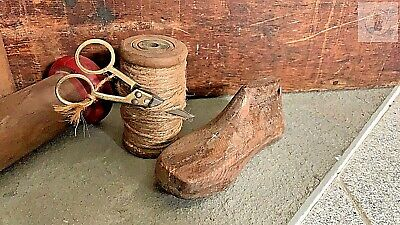 "Primitive Vintage Antique Wood Shoe Cobbler Mold SMALL 7"" x 2 1/2"""