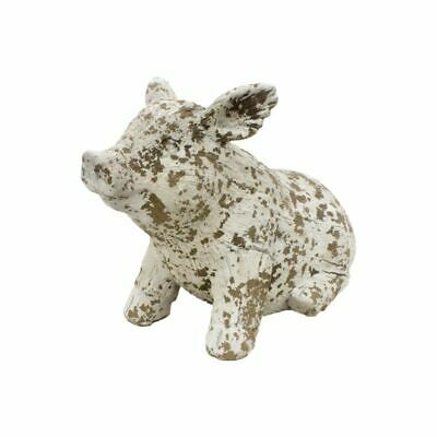 Rustic PRIMITIVE COUNTRY RESIN PIG Vintage Distressed Farmhouse FREE SHIP