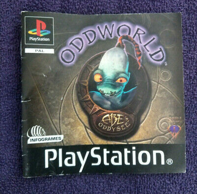 Abe's Oddysee Oddworld - Playstation One (Ps1) - Instructions Only - **No Game**