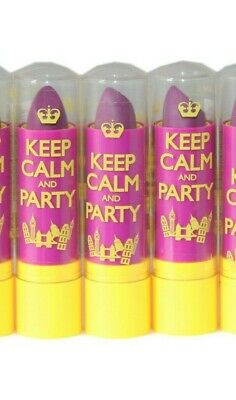 3 x Rimmel Keep Calm and Party Lip Balm | RRP £9 | Violet Blush | Job Lot