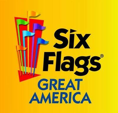 SIX FLAGS GREAT AMERICA Adult Ticket Chicago/Gurnee, IL