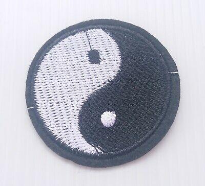 Yin Yang Ying Tao Hippie Iron on Patches Embroidered Badge Patch Applique Emblem