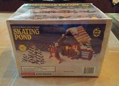 Wee Crafts Christmas Village Skating Pond Kit 21594 Accents Unlimited New Sealed