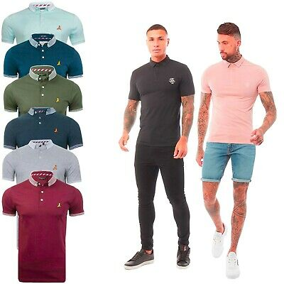 Mens Polo Shirt Short Sleeve Sports Golf Badminton Casual Top Brave Soul XL L M