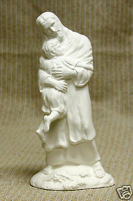 Ceramic Bisque Jesus Loves Me with Child Byron Mold 3140 U-Paint Ready To Paint