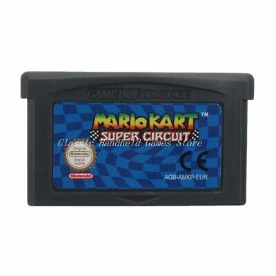 Mario Kart Super Circuit Cartridge Card For Game Boy Advance GBA SP GBM NDS NDSL