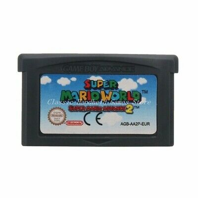 Super Mario World 2 Cartridge Card For Game Boy Advance GBA SP GBM NDS NDSL