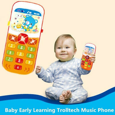 1pc kids cartoon electronic phone toy baby musical educational learning TDCA