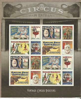 Us Scott 4898 - 4905 Ringling Bros Pane Of 16 Stamps Forever Mnh